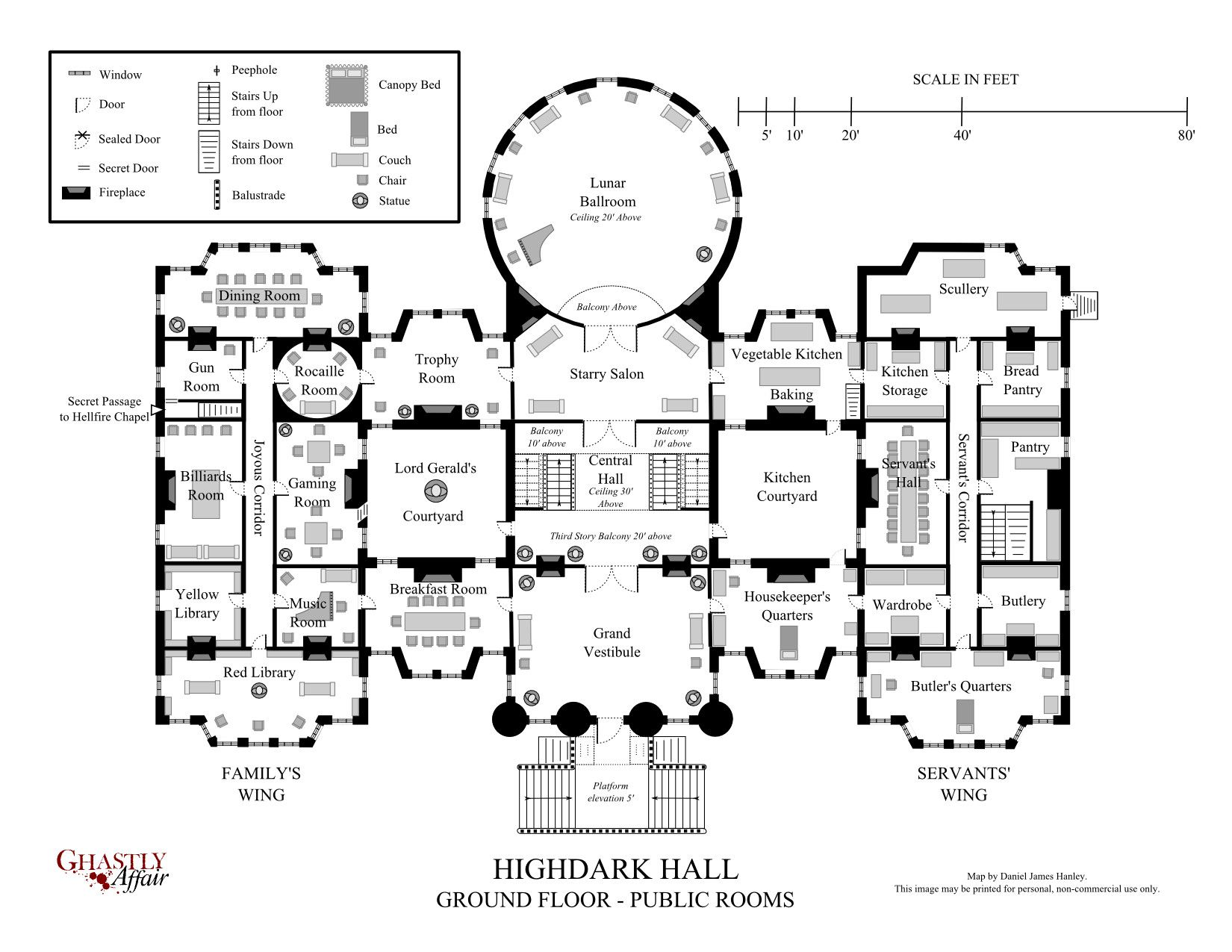 Floor Plan Mansions And Hotels With Secret Passages And Rooms Highdark Hall A Setting For Gothic Role Mansion Floor Plan Castle Floor Plan House Floor Plans