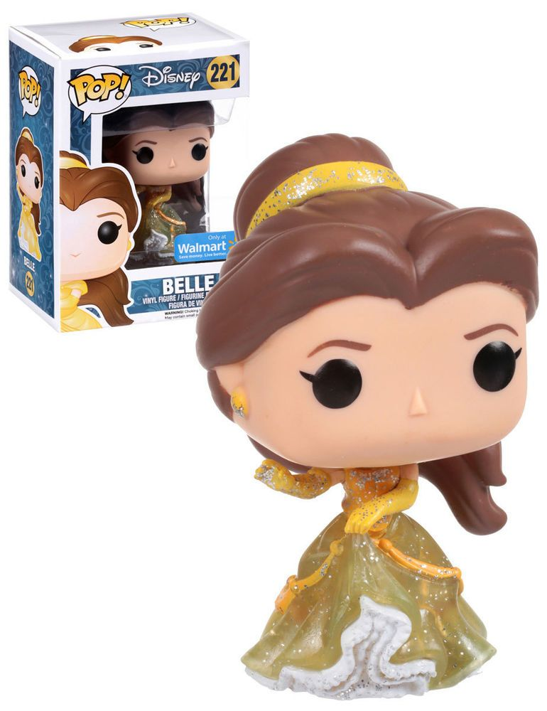 Funko Pop Disney Beauty And The Beast 221 Belle Sparkle Dress Walmart Exclusive New Mint Condition Funko Pop Disney Funko Pop Dolls Pop Figures Disney