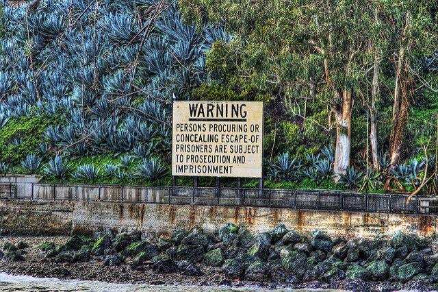 aviso às familias de alcatraz