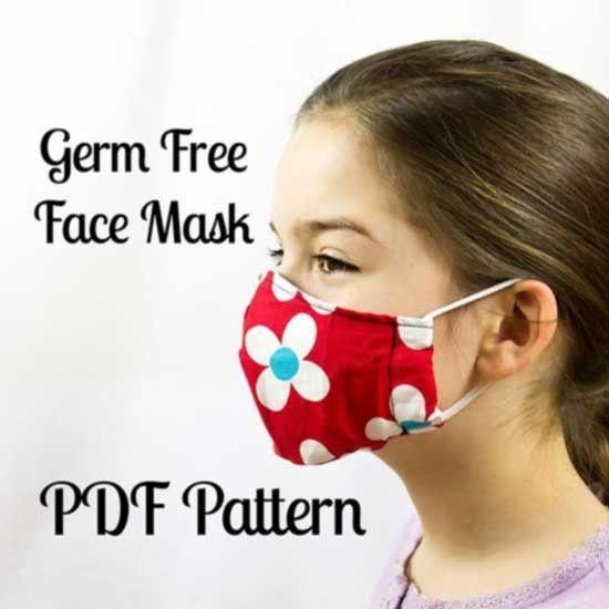 Germ Free Face Mask Sewing Pattern Sewing For Beginners Easy