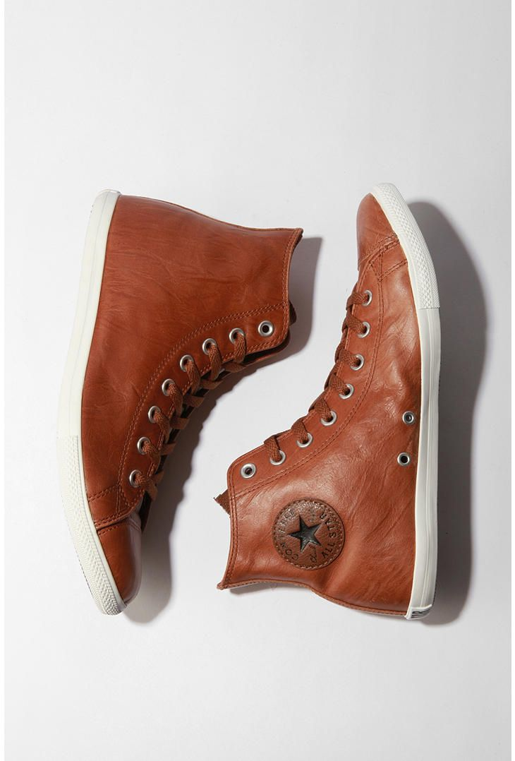 Leather converse, Leather high tops