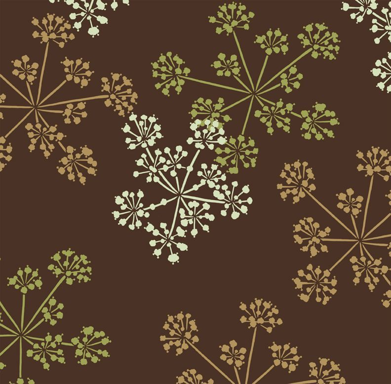 Floral Pattern Fabric Accent Wall: Floral Stencil! What A Great Way To Do An Accent Wall In