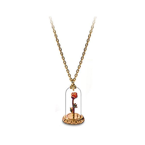 Enchanted Rose Beauty And The Beast Necklace By Disney Couture 185 Brl Liked On Polyvore Featuring Je Disney Jewelry Disney Couture Enchanted Rose