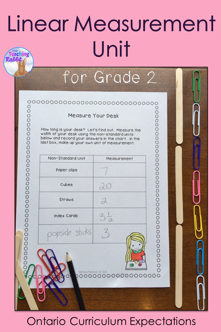 Linear Measurement Unit for Grade 2 (Ontario Curriculum)   The ...