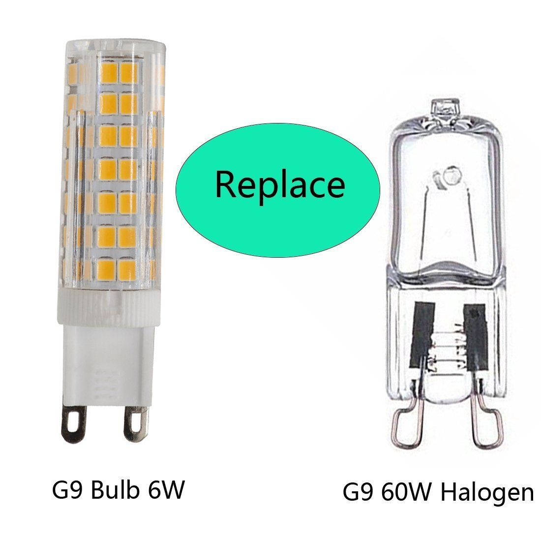 G9 Led Light Bulb 75w 85w 100w Halogen Bulbs Equivalent 840lm G9 Binpins Base 110v 120v 130v Input Led Bulbs Replacement War Led Light Bulb Led Bulb Light Bulb