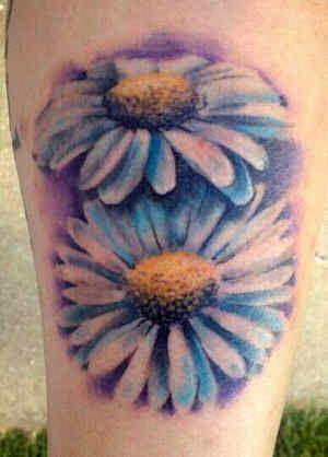 White daisy tattoo