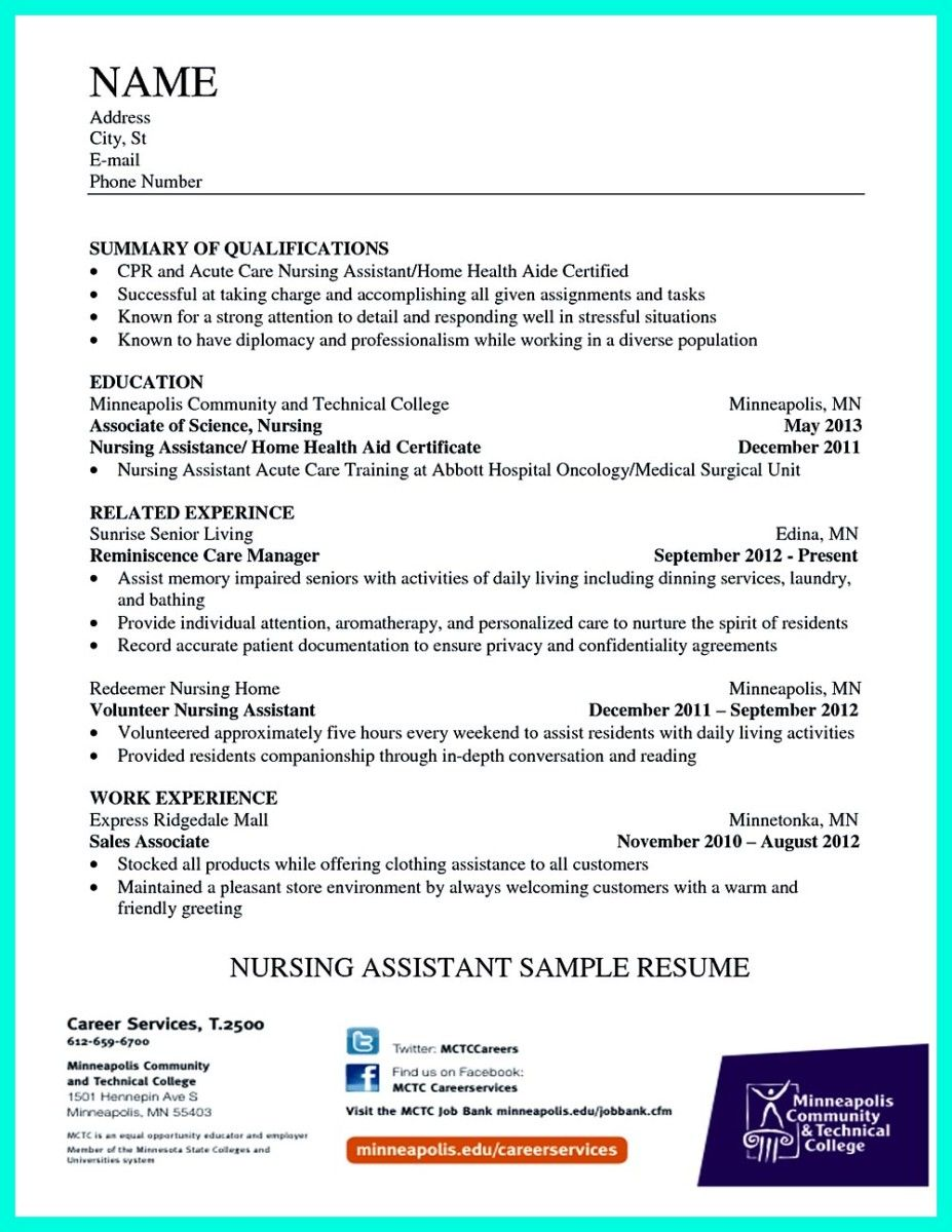 Cna Resume Template Awesome Impress The Employer With Great Certified Nursing