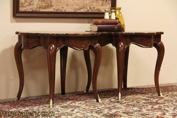 Antique Foyer Furniture : Antique furniture cherry wood harp table foyer or couch