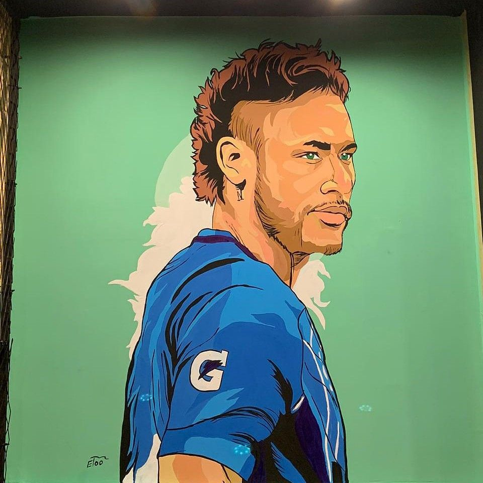 نيمار Neymar رسم جرافيتي للاستفسار ٠١١٤٢٨٢١٨٧٤ Art Male Sketch Male
