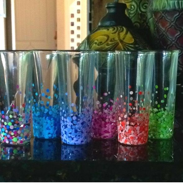 Confetti glasses use acrylic paint the back end of a - When is it too cold to paint ...