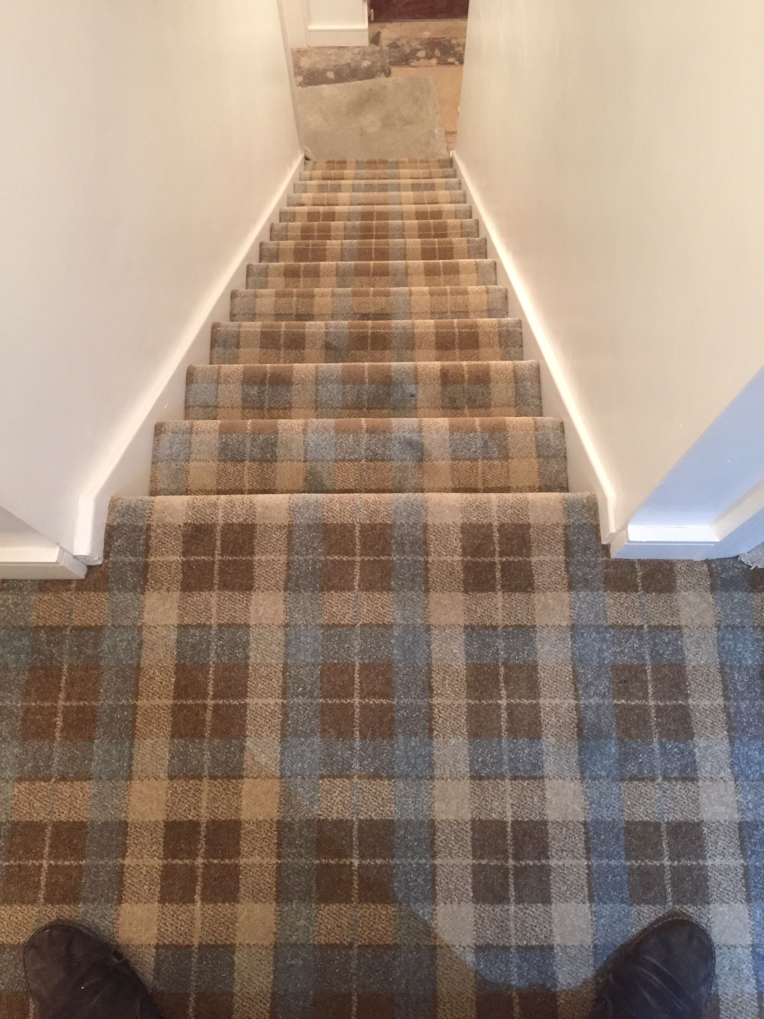 Tartan Carpet To Stairs And Landing Carpets In 2019