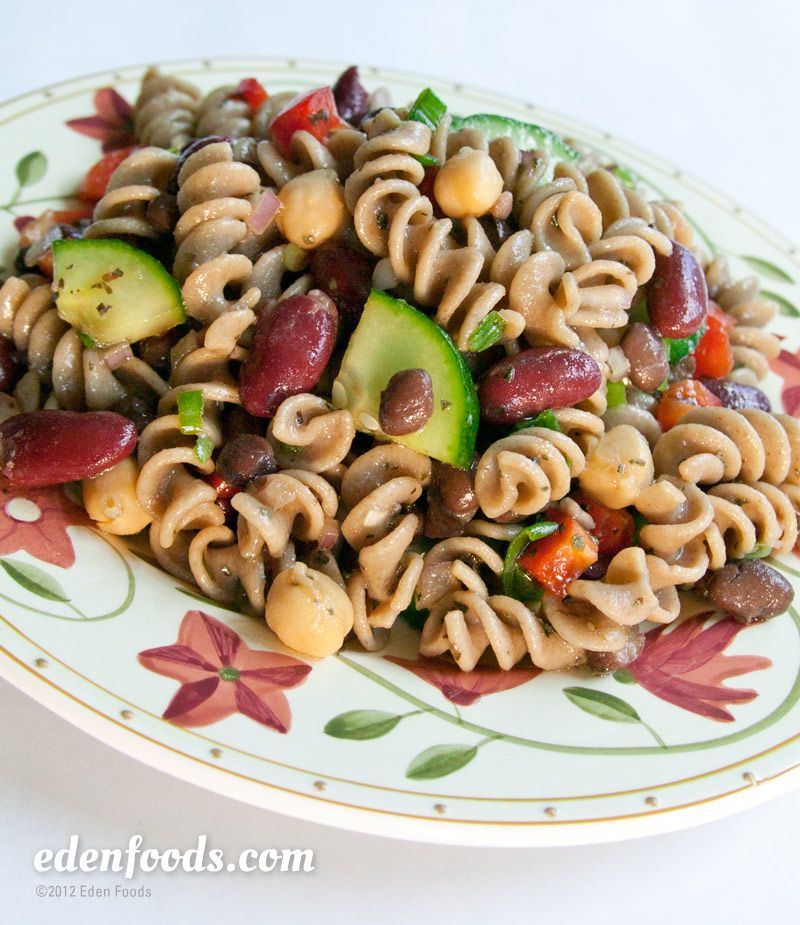 Sweet Sour Flax Rice Spiral Pasta Salad Recipe And