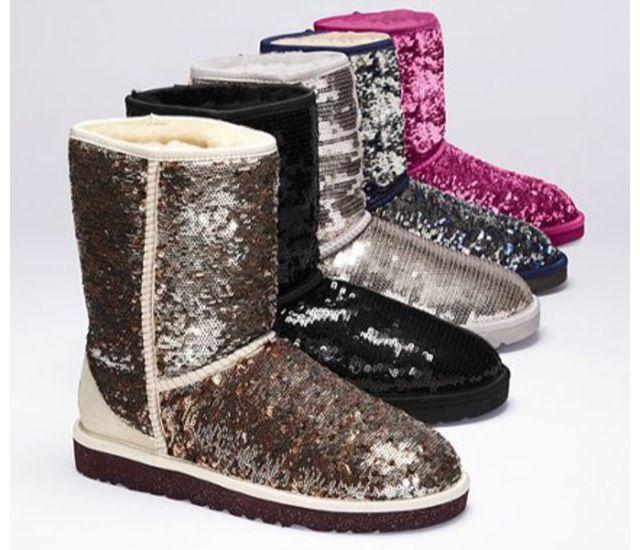 gold glitter ugg boots