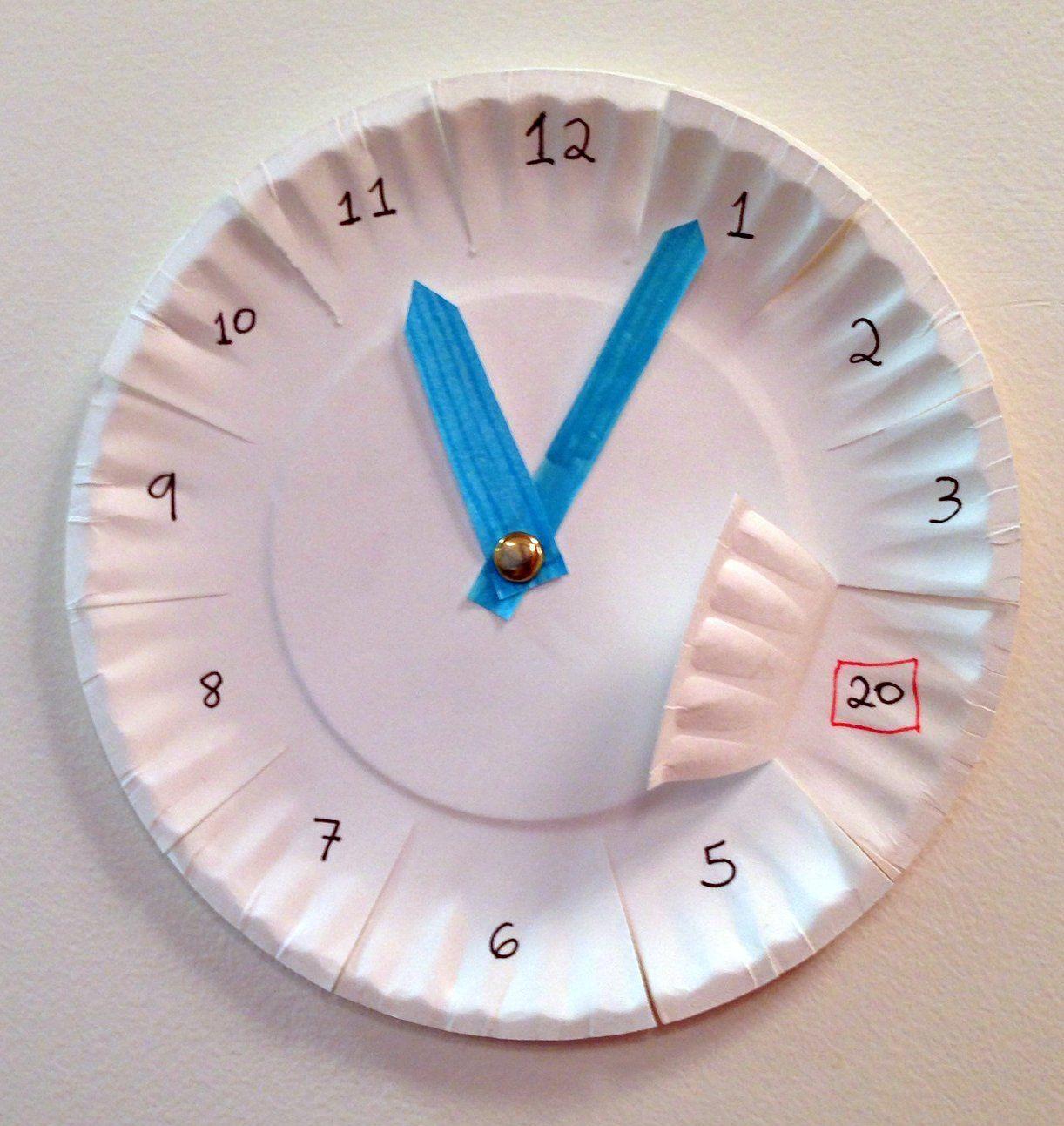 Paper Plate Clock Education Teaching Math
