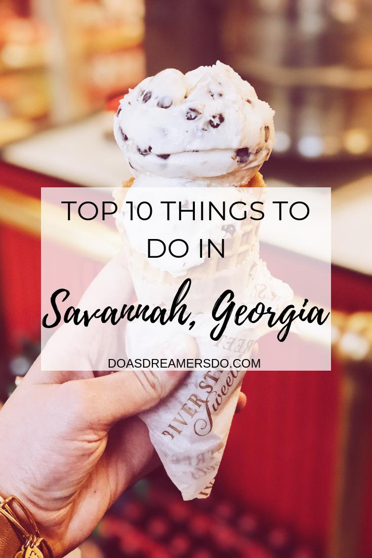 Top 10 Things to Do in Savannah, Georgia #spanishthings