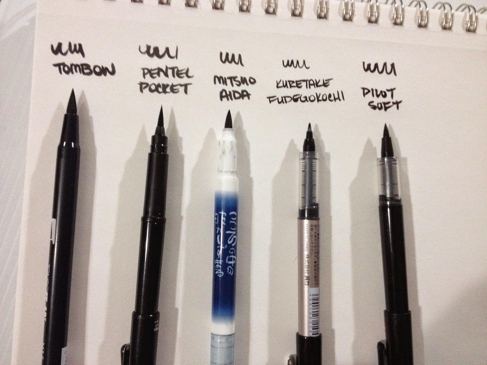 Pentel brush pen review julia bausenhardt illustration design
