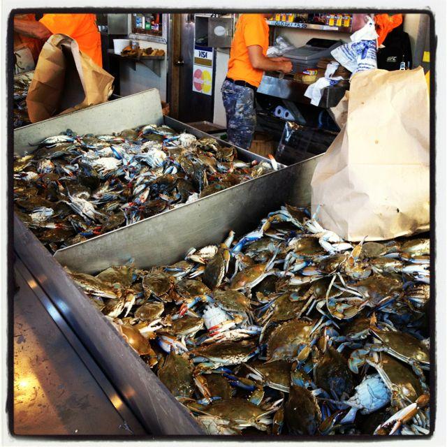 Washington D C Waterfront Seafood Market