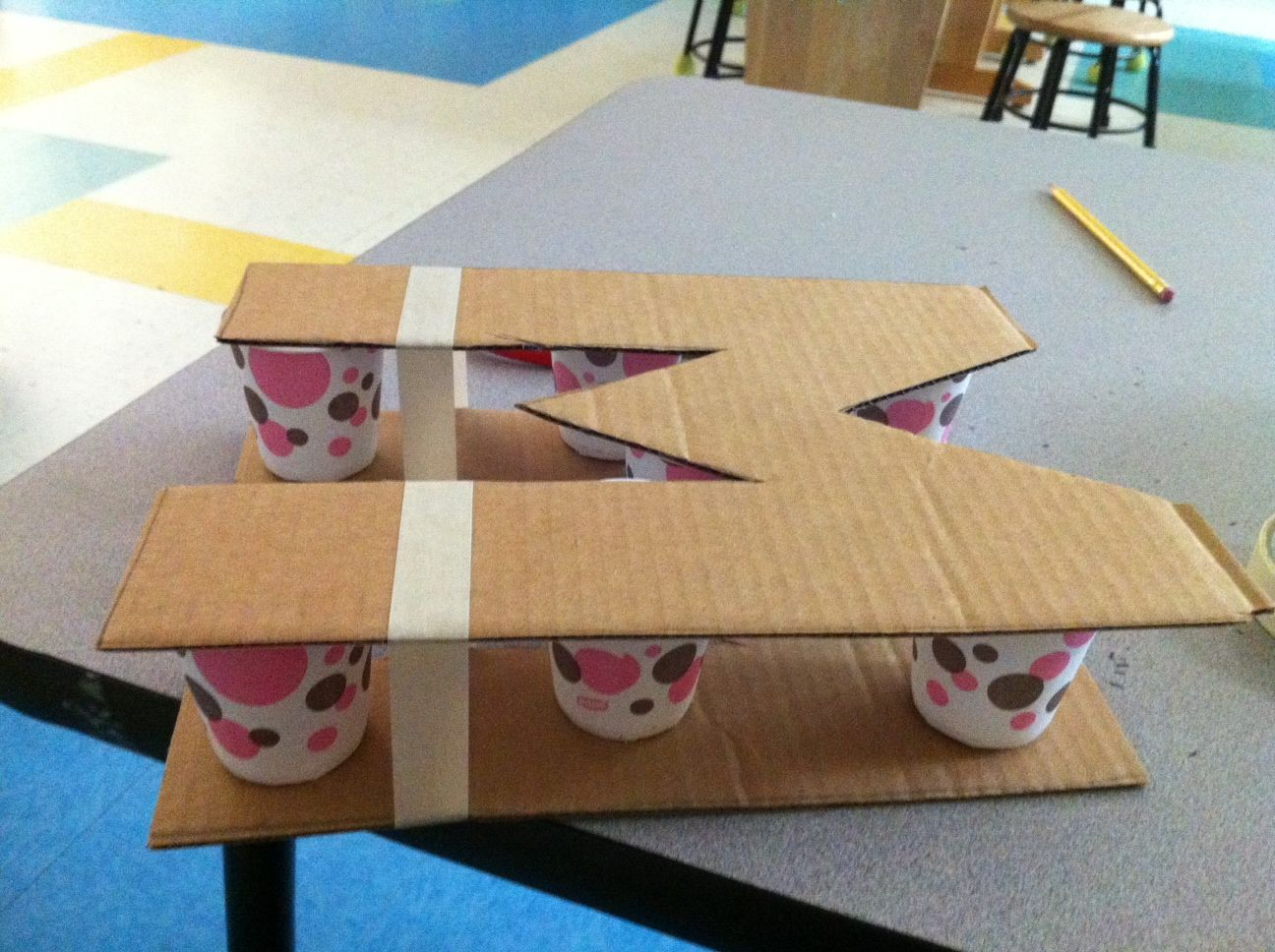 how to make paper mache lettersor big numbers id love to make giant numbers and have them either as decor in the classroom or use them for a group math