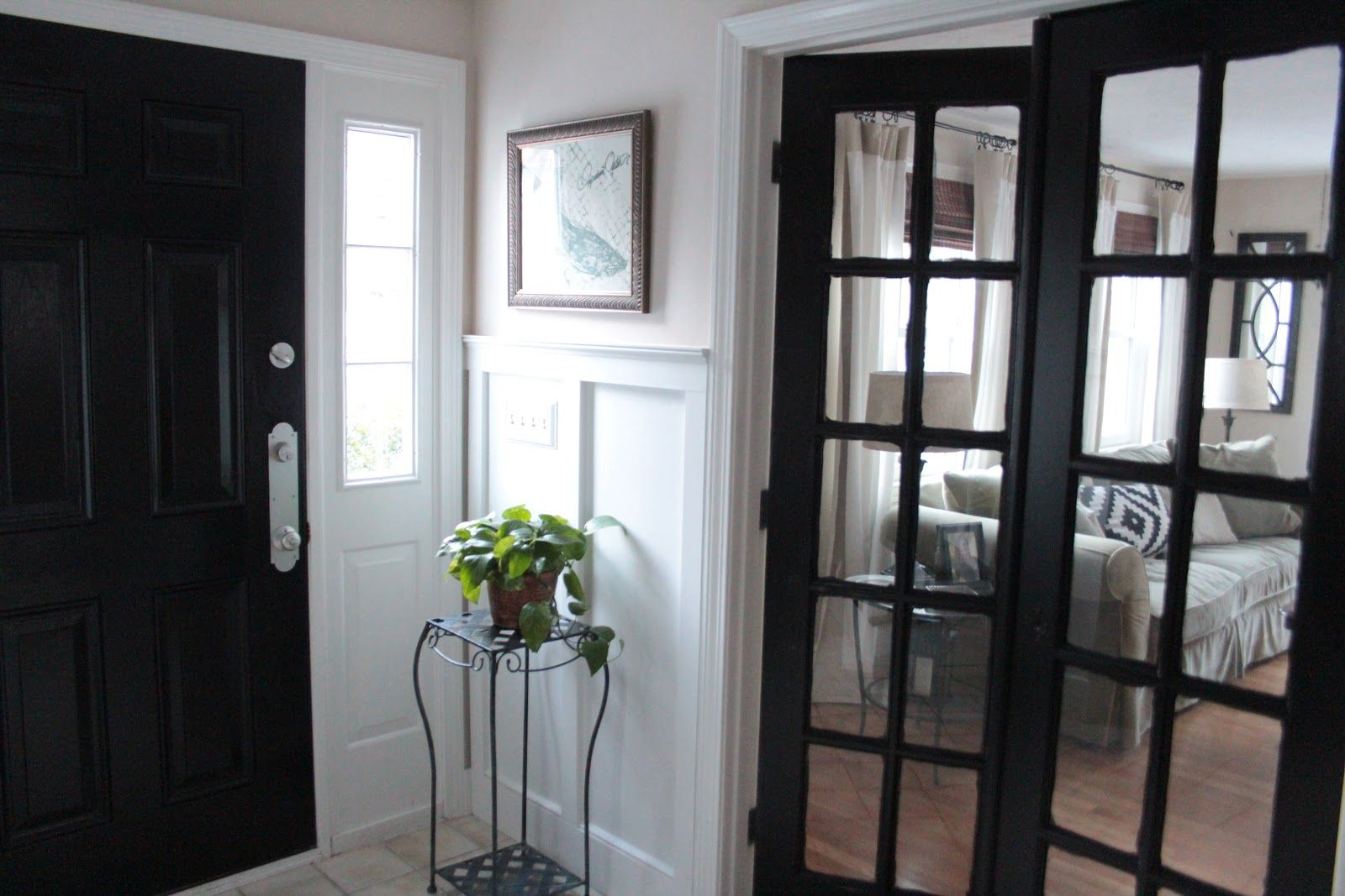 Depiction Of Black Painted Interior Doors Why Not