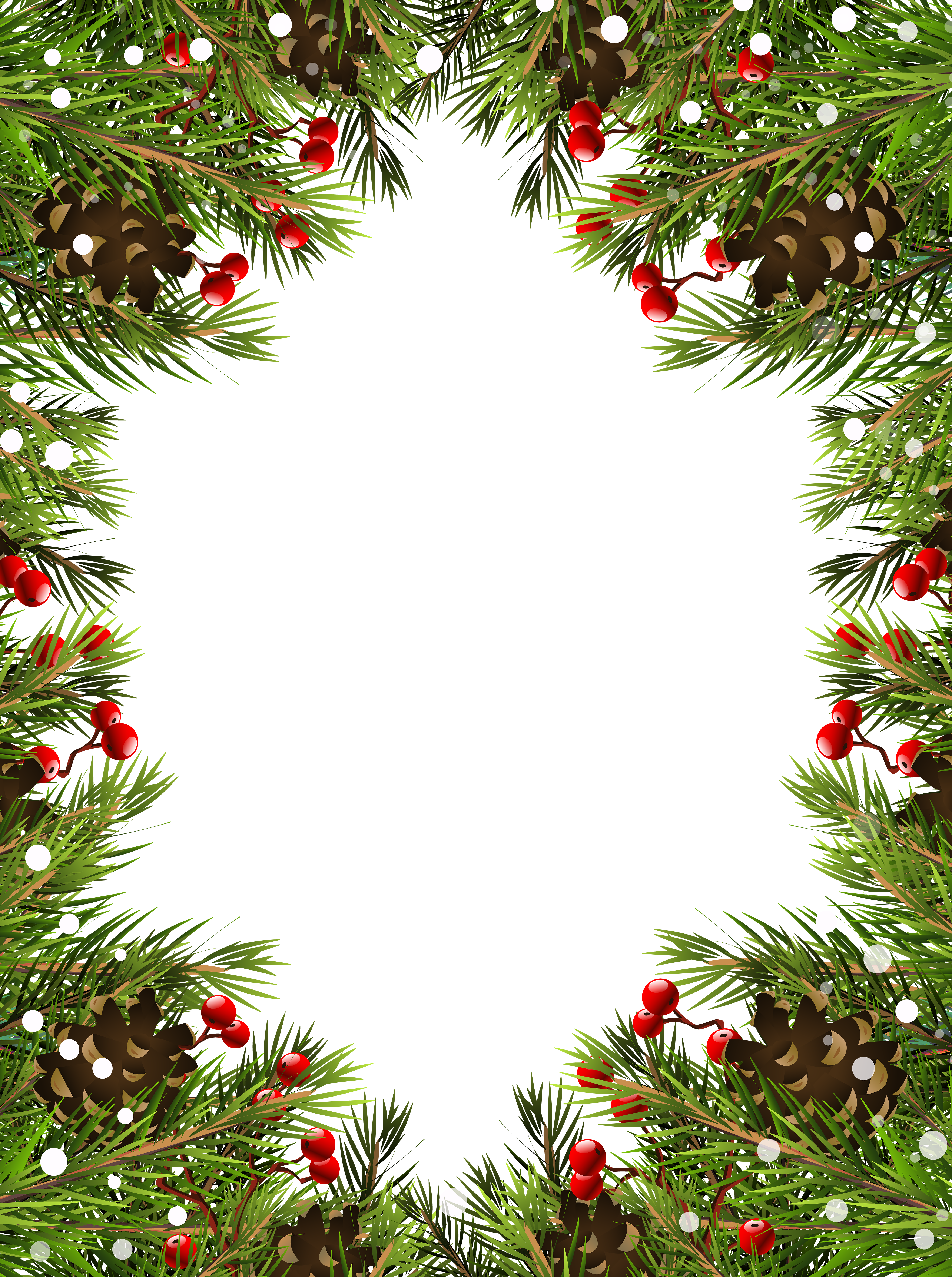 Christmas Border PNG Transparent Clip Art Christmas