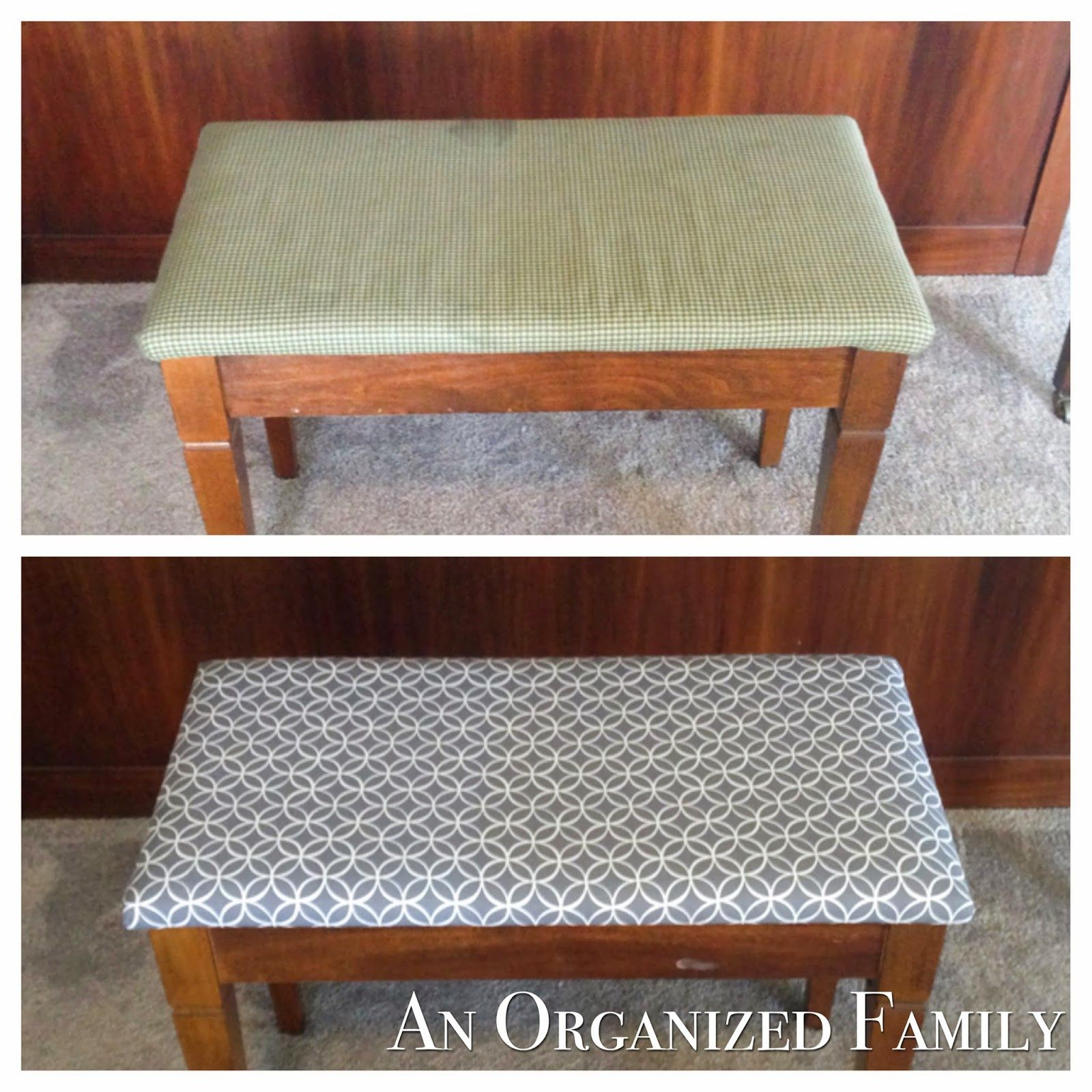 How To Reupholster A Piano Bench Piano Bench Family Organizer Piano