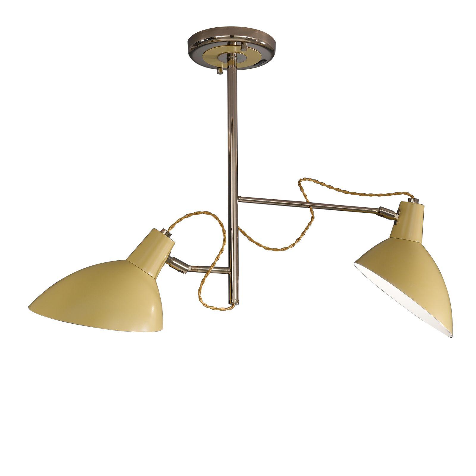 Retro Mustard 2 Light Ceiling Lamp Ceiling Lamp Ceiling Lights