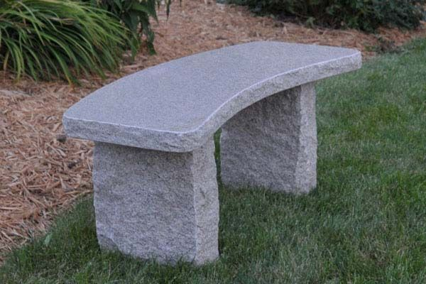Curved Gold Granite Bench Simple Durable And Well Just Plain