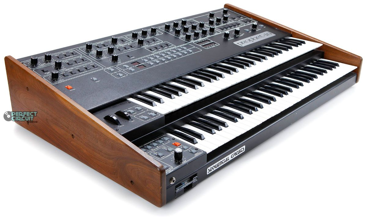 Because At One Point In Order To Get 10 Key Polyphony You Needed Two Separate Keyboards Sequential Circ Synthesizer Music Synth Electronic Music Instruments