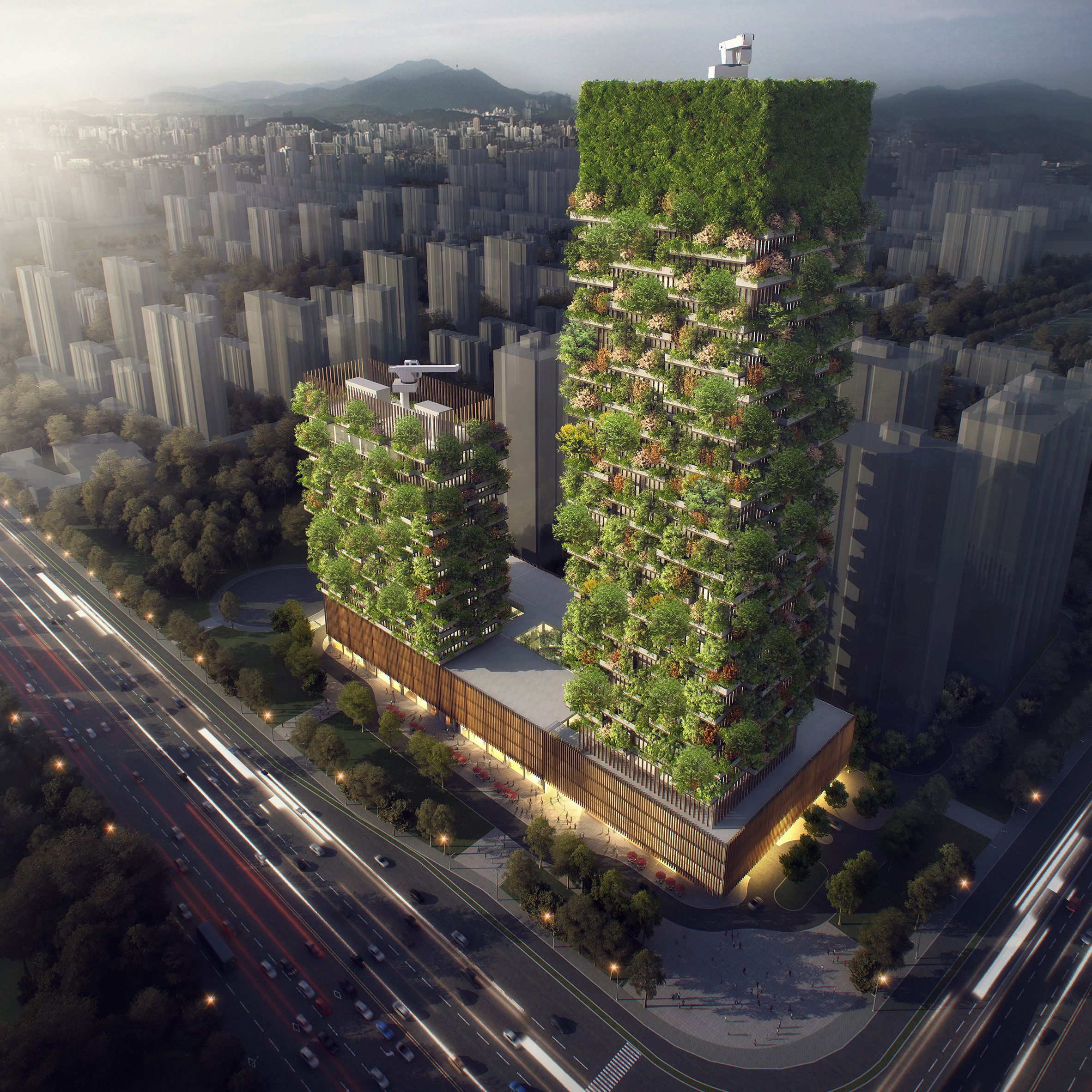 Stefano Boeri Envisions Entire Cities Filled With Treecovered - 384ft tall apartment will be the worlds first building to be covered in evergreen trees