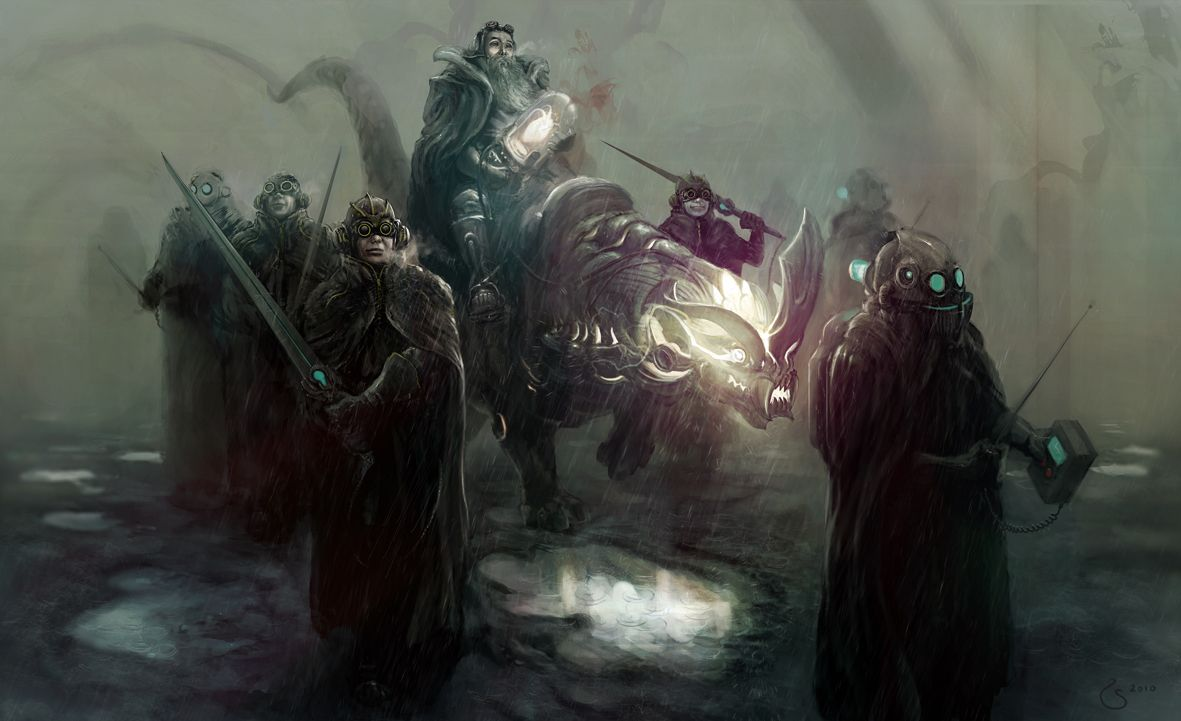 Steampunk Fantasy Art | ... Search Picture (2d, fantasy, fog, beast, soldiers, steampunk, search