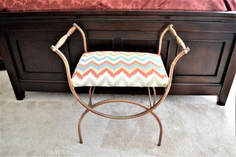 Cool Retro Vanity Bench Vintage Delta Metal Industries Metal Ibusinesslaw Wood Chair Design Ideas Ibusinesslaworg