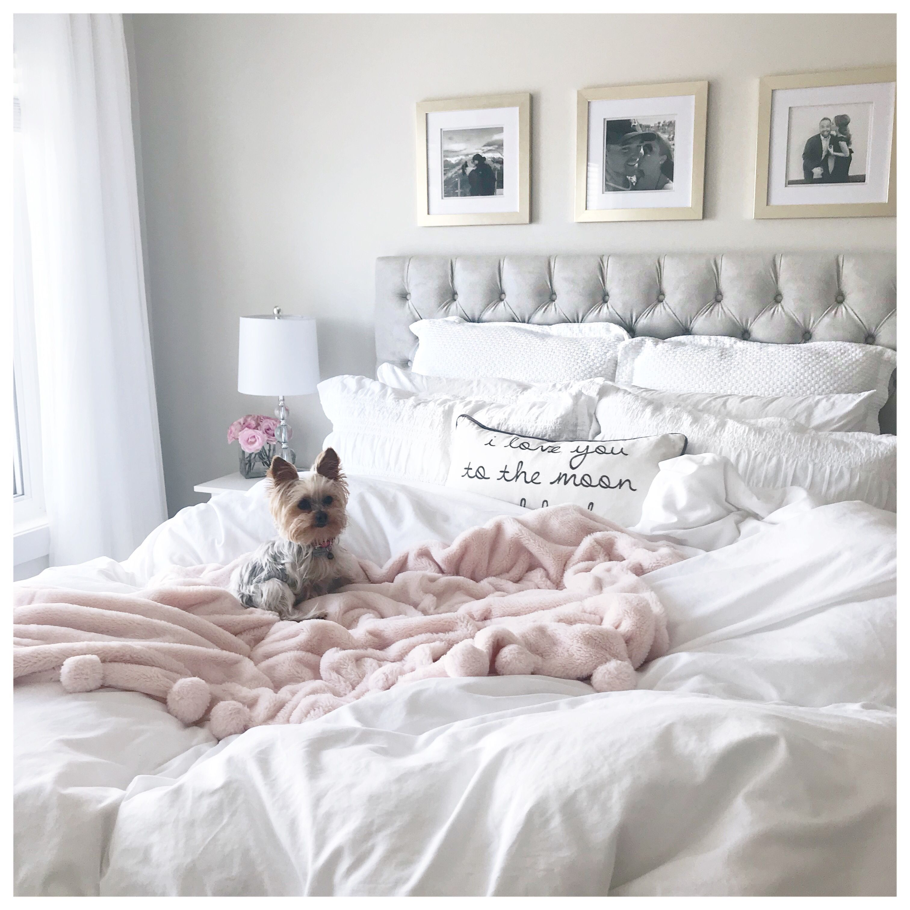 White Light Grey Bedroom Pink Gold Accents Pink Bedroom