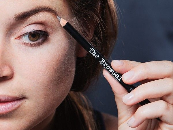 This skinny eyebrow pencil, discovered by The Grommet, is a three-in-one tool—pencil, spoolie brush, and one-turn sharpener.