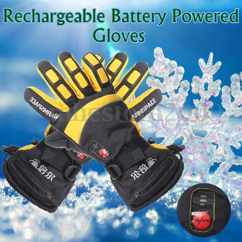 Women Battery Powered Heated Gloves Outdoor Motorcycle Skiing Hunting Warmer New