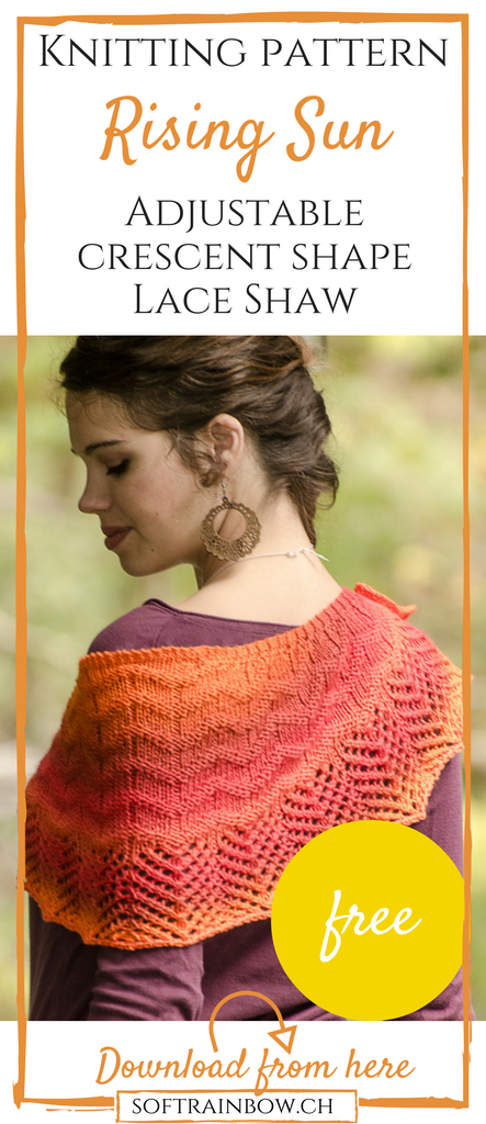 Rising Sun - Free knitting pattern | lace | adjustable | crescent ...