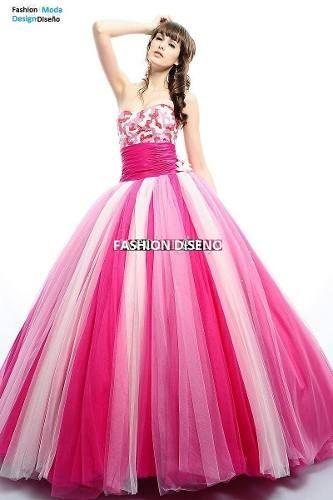 52502490f Elegantes Vestidos Quinceaños Quinceañera 15 Años -   10