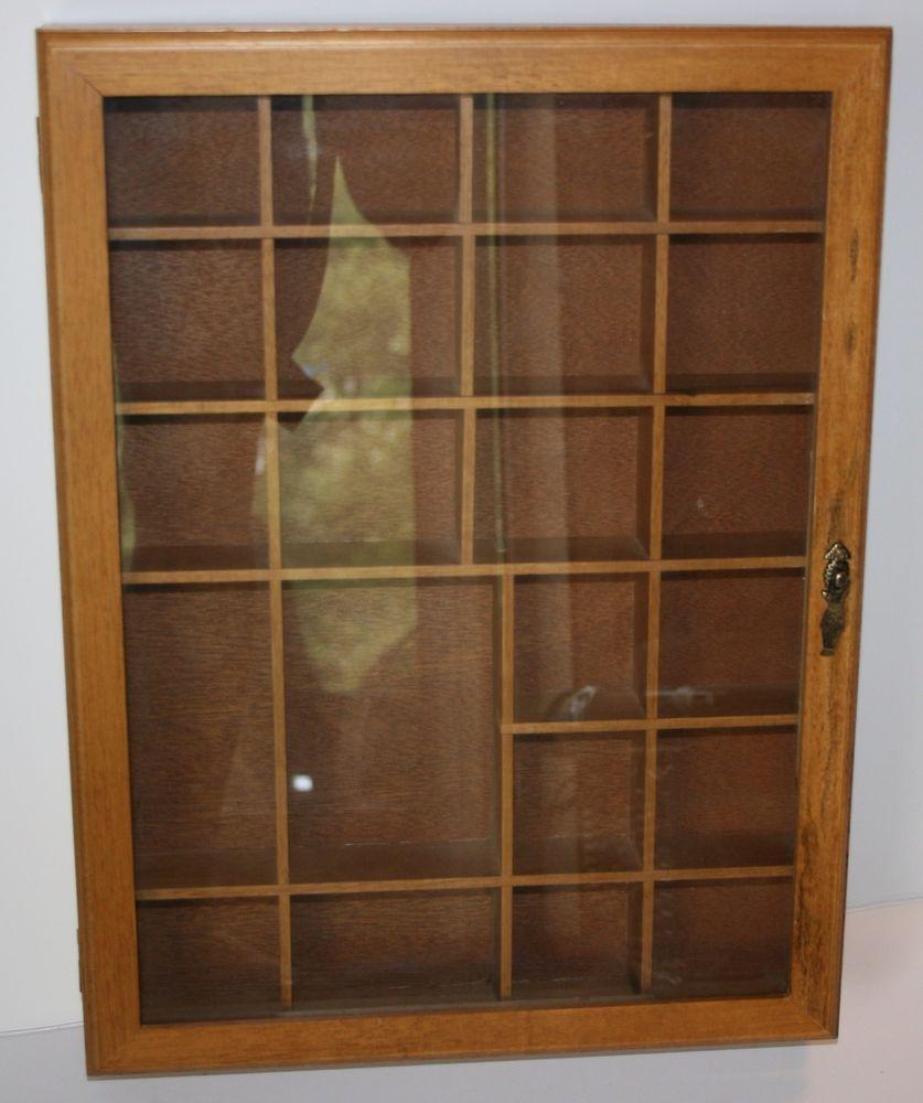 Wall Curio Cabinet Shadow Box Display Case Collectibles Shelf Gl