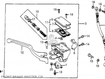 Honda Vt500c Shadow 500 1985 f Usa Front Brake Master Cyl