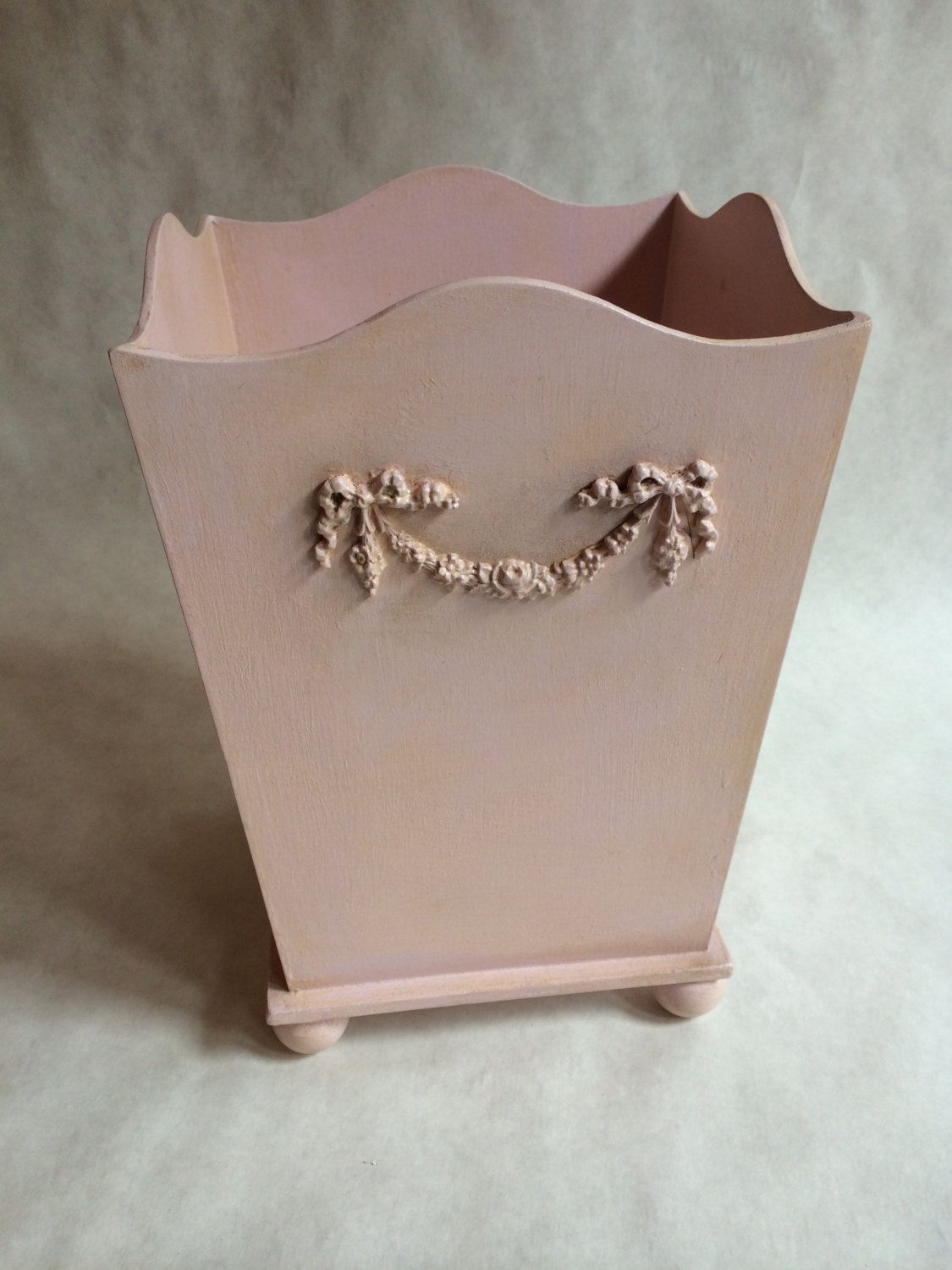 Shabby Chic Waste Baskets Waste Basket Shabby Chic Trash Can Hand Painted Waste Basket