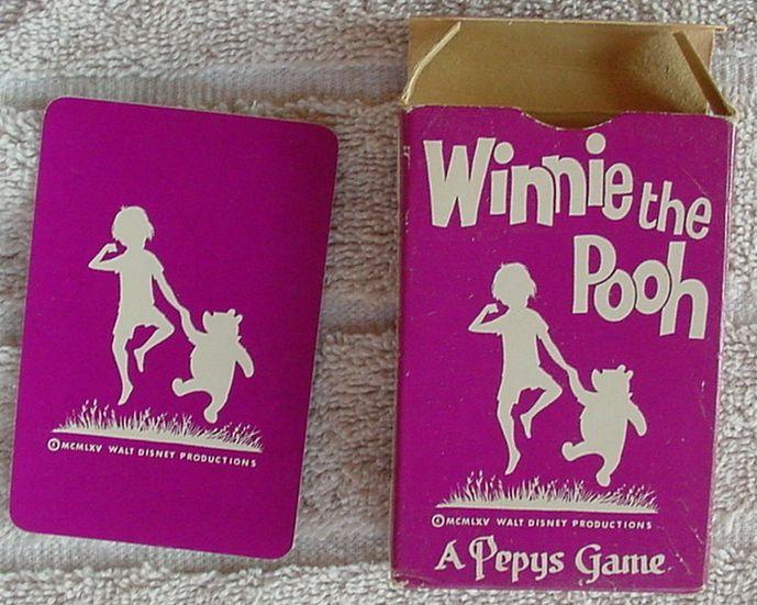VINTAGE  MEGA  RARE  DECK OF CARDS   1965 WINNIE THE POOH -COMPLETE DECK - RULES