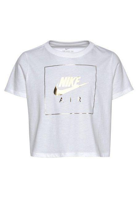 Nike Sportswear T-Shirt »GIRLS NIKE SPORTSWEAR TEE CROP NIKE AIR DOP« online kaufen | OTTO