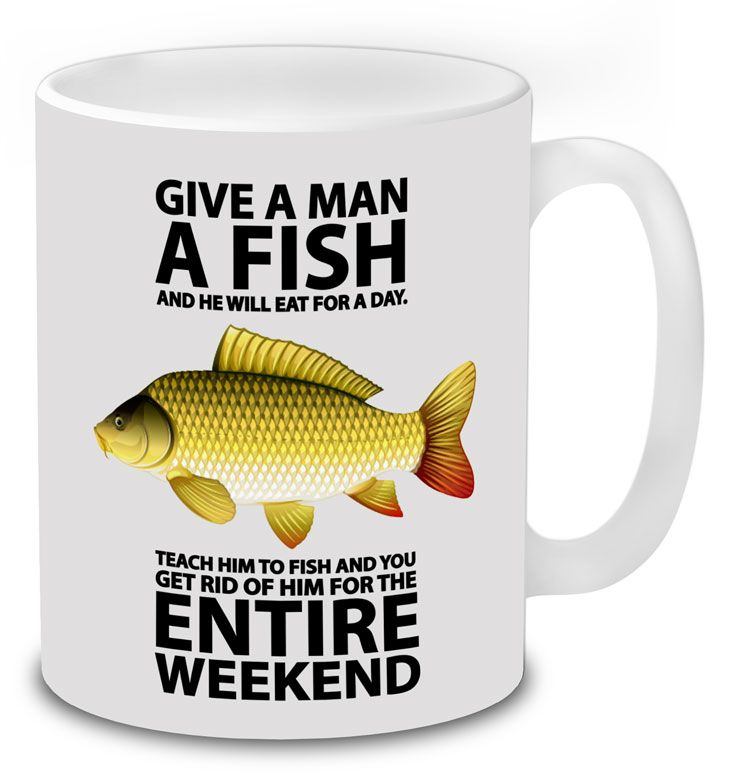Funny Mugs Drowning Worms Holy Carp Fish Fishing Fisher MAGIC MUG