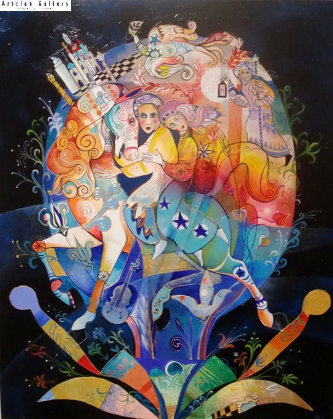 Les amants de plénitude - 81 x 65 cm