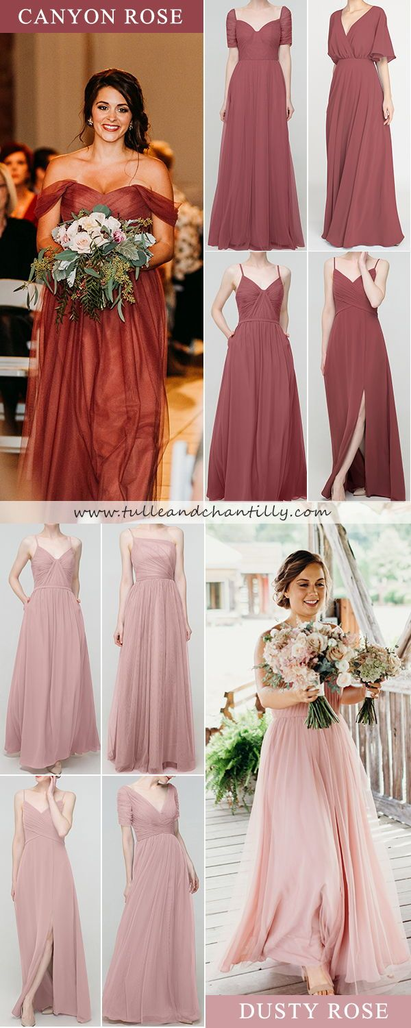 Bridesmaid Dresses And Gift Ideas Tulle Chantilly In 2020 Bridesmaid Dresses Wedding Color Trends Wedding Theme Colors