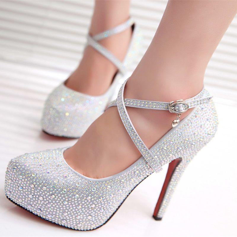 Zapatos plateado Tacón cuadrado Find para mujer nI63w