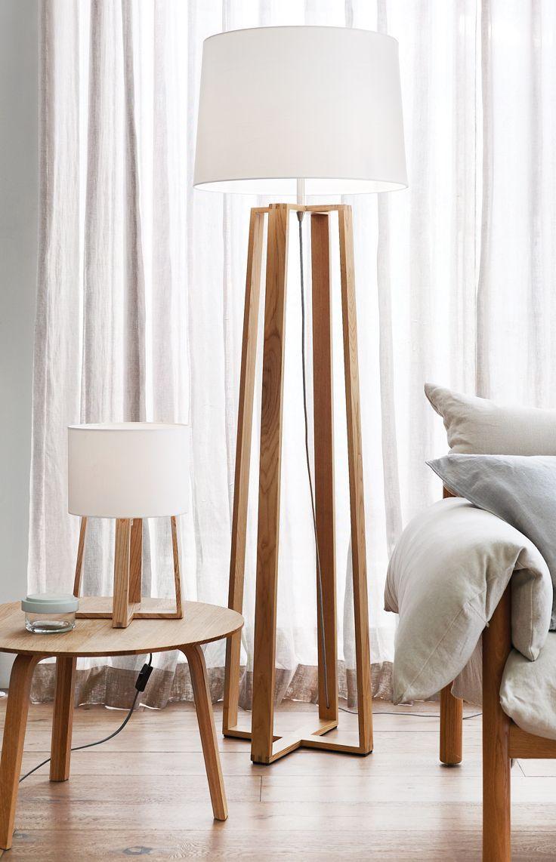 The Beacon Lighting Copenhagen Scandinavian Inspired Floor Lamp In Teak Contemporary Lamps