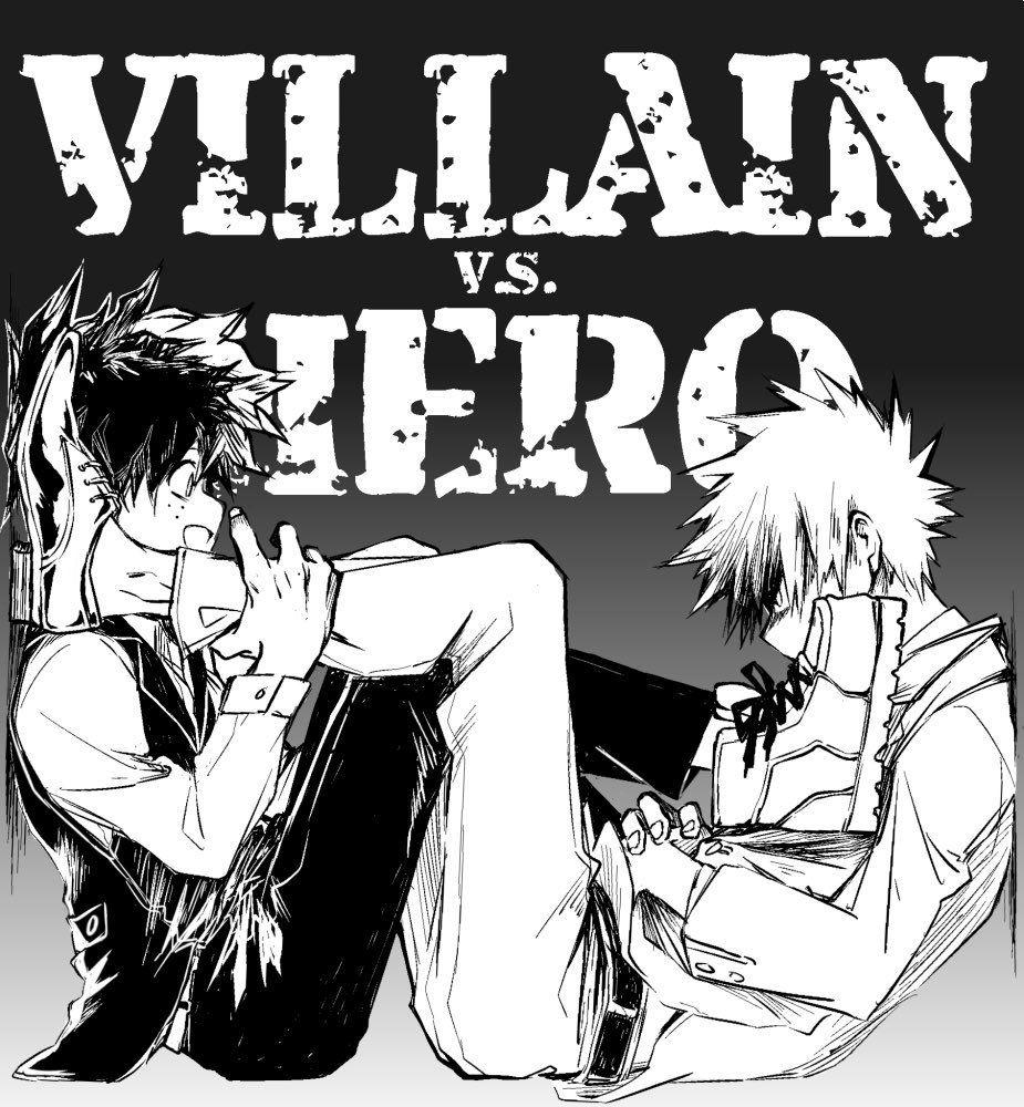 Boku no Hero Academia || Midoriya Izuku (Version Villain/Villano), Katsuki Bakugou.