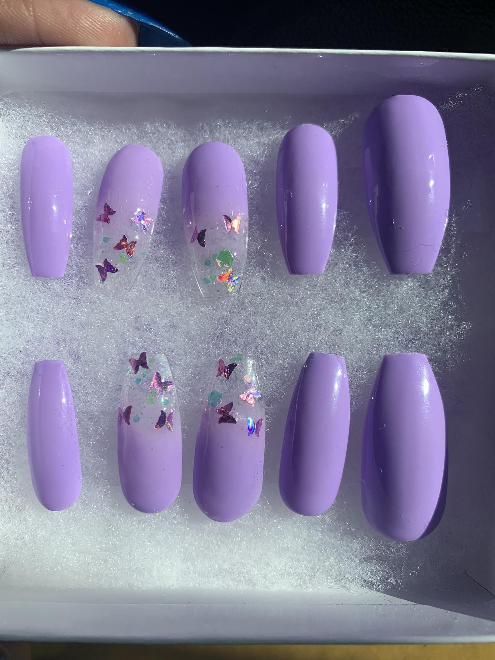 Butterfly Nails Holo Nails Coffin Nails Stiletto Nails Etsy In 2020 Butterfly Nail Holo Nails Coffin Nails Designs