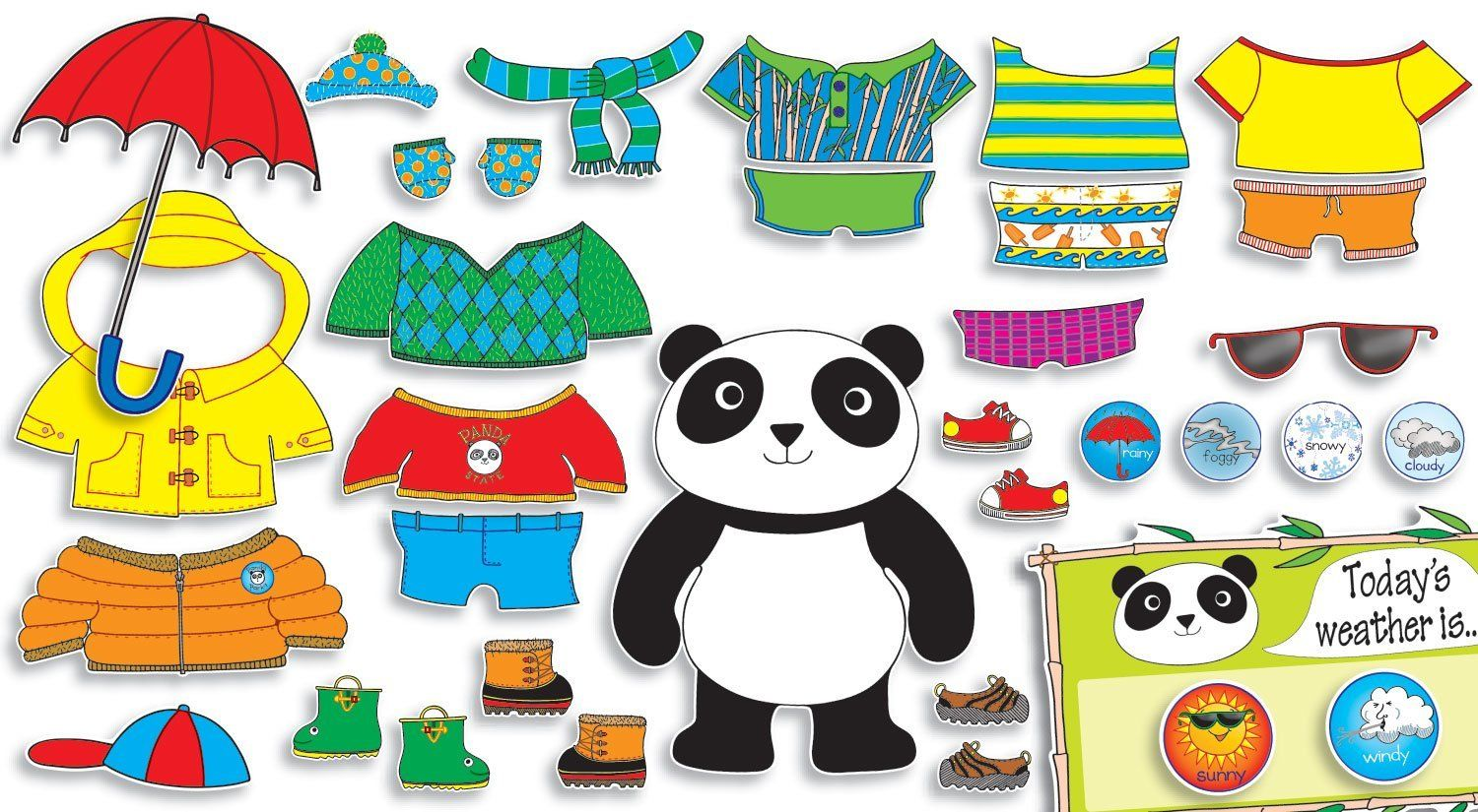 Image Result For Dressing Panda Weather Chart