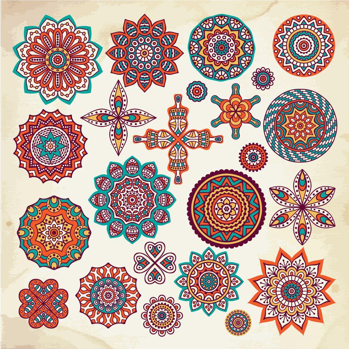Extraordinaire  Mot-Clé Vector mandalas   Mandala design art, Mandala art, Mandala